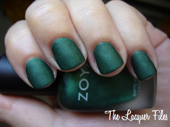 Zoya Veruschka Green Suede Matte Velvet Winter 2009 Collection