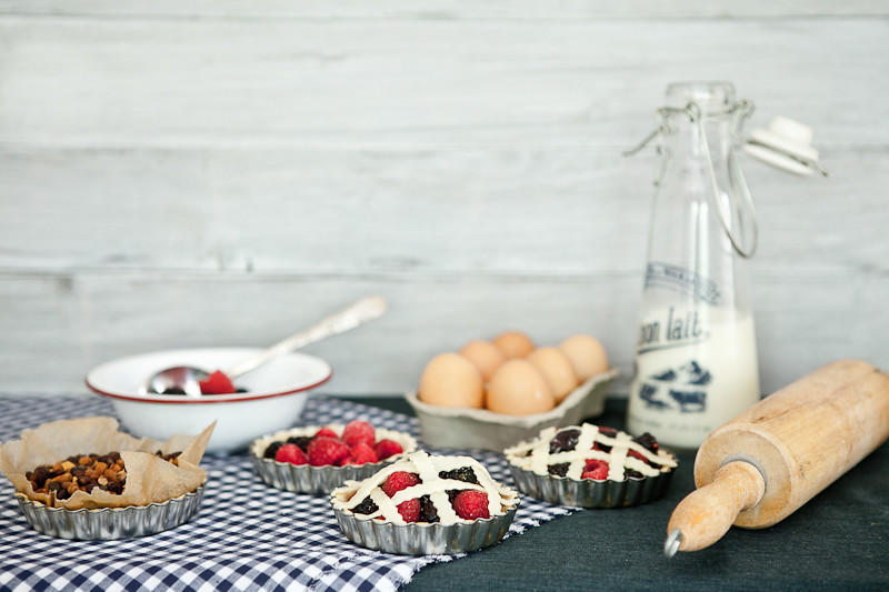 Baking Mixed Berry Tarts