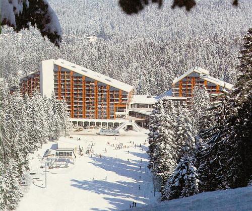 Skiing in Borovets, Bulgaria