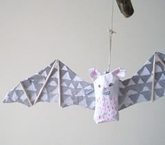 bats (jikits) Tags: mobile bat papier mache bats
