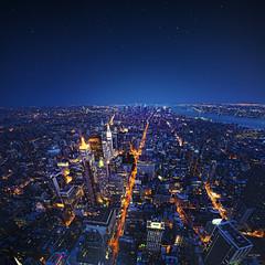 nyc - good life (sadaiche (Peter Franc)) Tags: city nyc newyorkcity longexposure travel ny newyork lights high view space planet empirestatebuilding empirestate manhatten topoftheworld thetouristyshotthateveryonetakes ohdearlordiquotedaonerepublicsongshootme