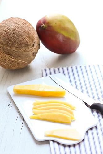 Tarteletes de coco i mango