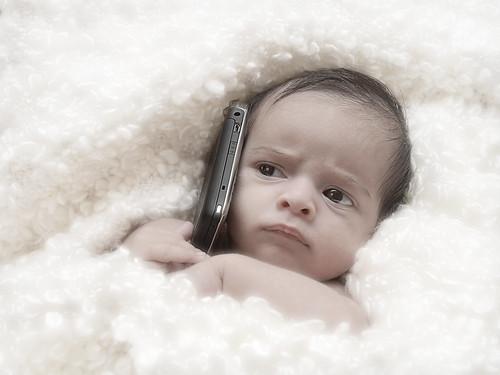 フリー写真素材, 人物, 子供, 赤ちゃん, 電話・携帯電話, グラフィックス, フォトアート,