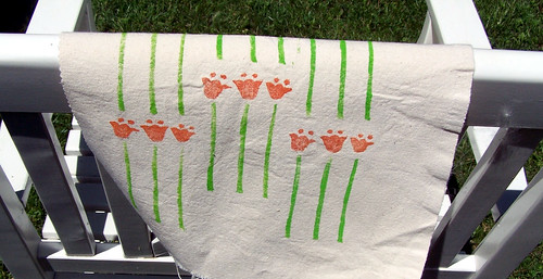 Buttercup Flower Hand Printed Fabric
