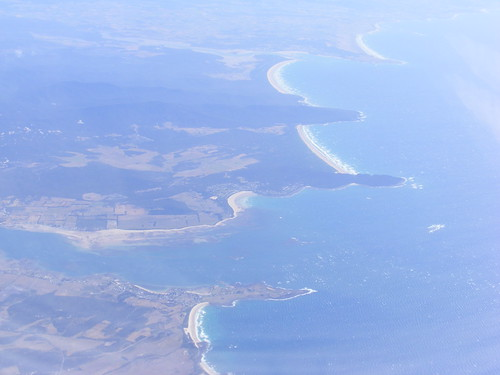 Mouth of the Tamar River from the Air