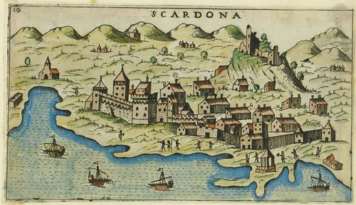 Scardona - map of Skradin, Croatia