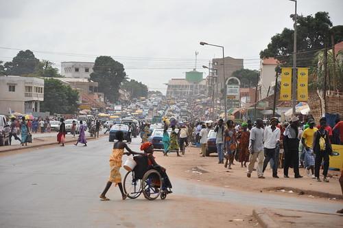 Entering Bissau