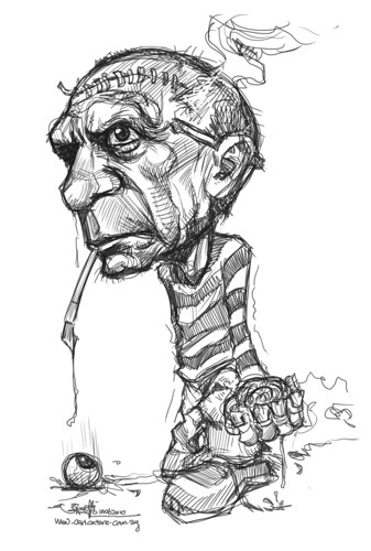 digital sketch of Pablo Picasso
