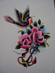 Roses and Anchor (bobqueiroztattoos) Tags: santa roses brazil flores floral phoenix birds rose brasil tattoo ink skull kat miami maria indian jesus flor von mother rosa super mario best sugar holy mexican needle sp fina fenix crown paulo rosas ramo so caveira mexicano tatto ramos rococo madona melhor virgem tattooing tatuagem chicano linha fino queiroz religioso dbob trao arabesco arabescos pontilhismo gellys fuckyeahtattoos