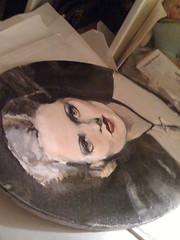 (DollyPeepers) Tags: portrait woman art girl beautiful beauty vintage painting pretty gallery fineart oil beautifulwoman cameo oilpainting jenniferjames girlillustrators yoitsjenlo24