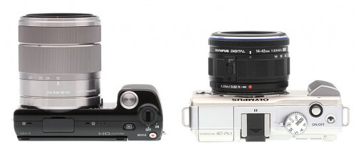Sony NEX-5 vs. Olympus E-PL1