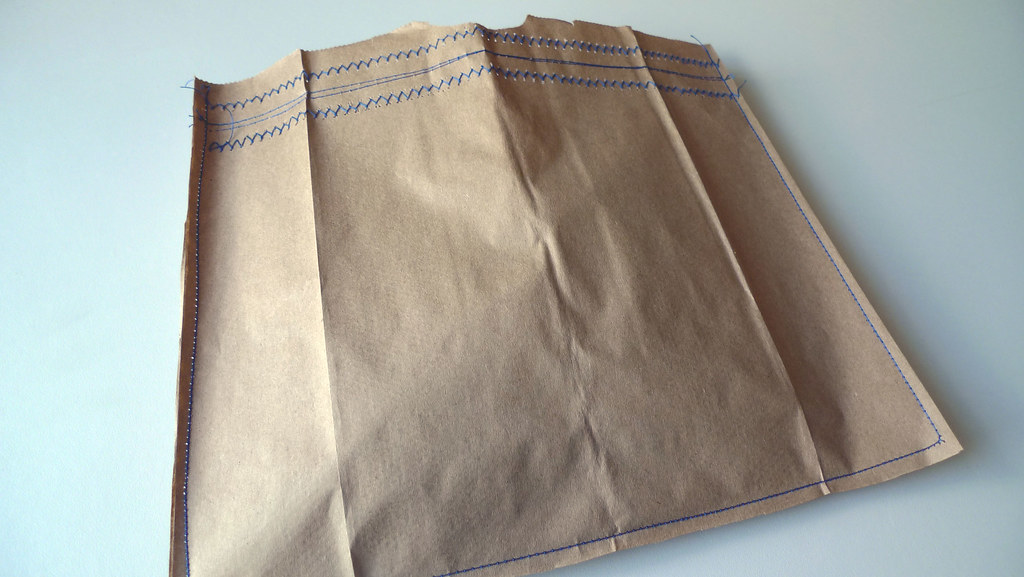stitched paper bag