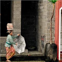 . (// The Kitcheners //) Tags: street travel bali umbrella indonesia traditional streetphotography streetlife olympus ubud balinese e410 joannablu thingsthatpeopleputontheirheads