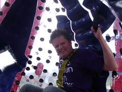 Sphereing Zorbing 1 (KidsCan Fundraiser) Tags: cancer research childrens macclesfield zorbing sphereing kidscan