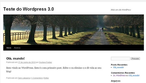 como instalar o wordpress 3.0