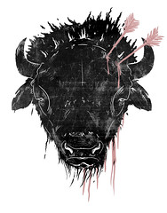 bison head ( trevornicholls ) Tags: original art strange animal monster shirt dark underground skull design weird sweater blood buffalo artwork punk artist tank graphic head designer folk zombie trevor unique gothic emo goth creative n hippy illustrations drawings style creepy hardcore gore indie arrows designs jumper illustrator monsters bloody draw conceptual creatures creature bison tee twisted bizarre alternative lowbrow brutal cruelty aesthetic aesthetics nicholls trevy