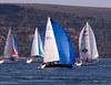 Yachts Passing the Hurst Narrows (tom0r3) Tags: castle race canon point island eos rebel yacht hampshire jp solent round morgan needles isle irc wight 2010 isc hurst the gilkicker 500d of t1i tom0r