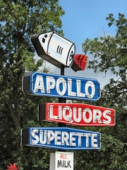 Apollo Superette (altfelix11) Tags: minnesota austin rocket spaceship neonsign liquorstore conveniencestore spaceage vintagesign vintageneonsign superette oaklandavenue apollosuperette