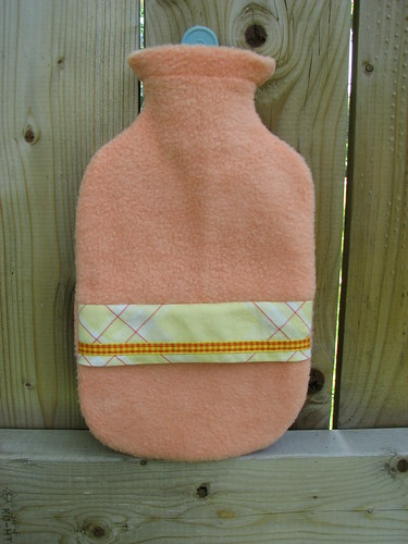 half-size hot water bottle cover