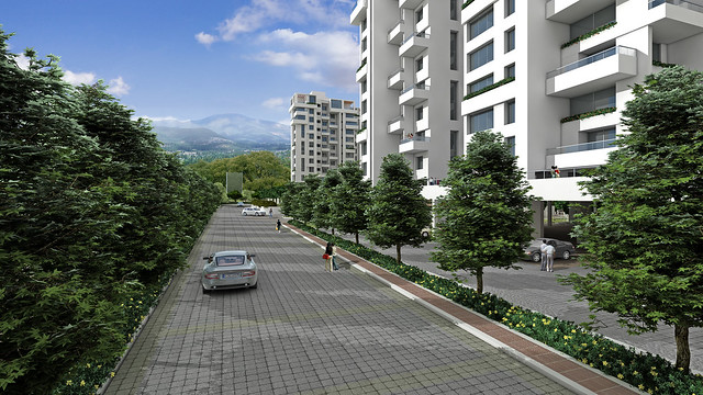 Avenue View of Teerth Realties' Teerth Towers, 2 BHK & 3 BHK Flats at Baner Sus Pune