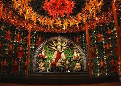 Durga Puja [Explored] (Bhaskar Dutta) Tags: wallpaper india scenery explore idol hindu incredible kolkata puja durga 2010 pandal sigma1020