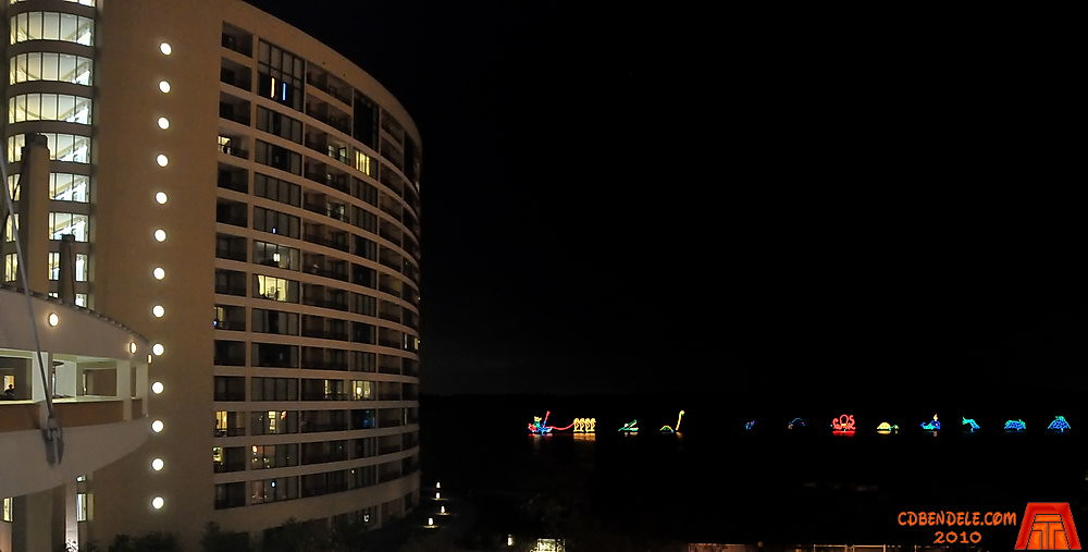 Electrical Water Pageant from Bay Lake Tower