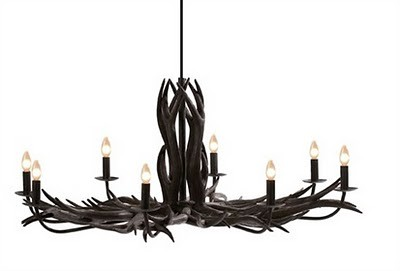 Black Deer Antler Chandelier