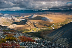Pristine Blackstone Uplands, Yukon (Marc Shandro) Tags: autumn canada fall nature beautiful landscape cloudy scenic yukon remote wilderness uninhabited pristine unspoiled expanse dempsterhighway mountainous grandness ogilviemountains