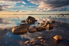 About Stones In The Golden Light (Dietrich Bojko Photographie) Tags: longexposure light sea d50 germany landscape deutschland see balticsea nikond50 rgen landschaft ostsee dietrichbojko globalindex zickerscheshft