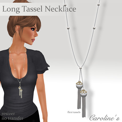 Caroline's Jewelry Long Tassel Necklace