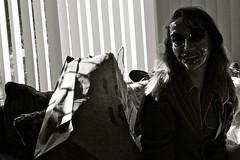 negative creep (kellywesthelle) Tags: halloween mask creepy negativecreep canonxsi