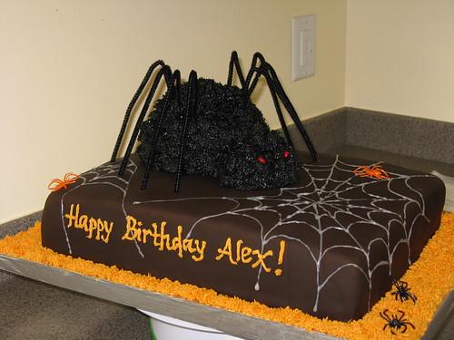 Halloween Spider Cake 2010 015