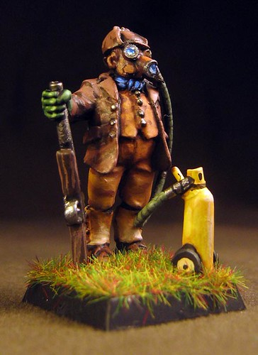 gas Mask hunter painted