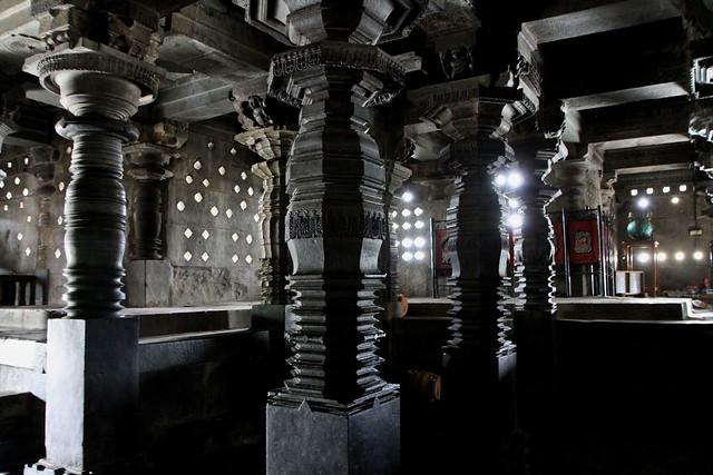 Inside Chennakesava Temple