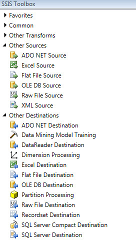 SSIS ToolBox DataFlow 2