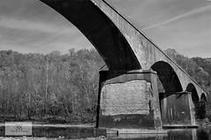 Yamacraw Bridge (AtomicImages) Tags: railroad bridge blackandwhite bw abandoned train kentucky ky railway exploration bigsouthfork yamacraw