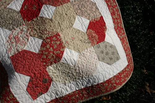 Coming Home table topper - quilted