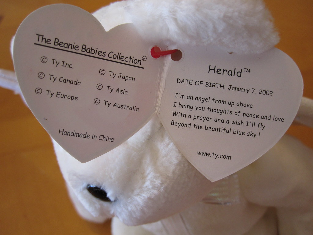 ... Ty Herald Beanie Baby Hang Tag (jessicagreen0202) Tags baby babies  buddies buddy collection half ... 0be41110543e