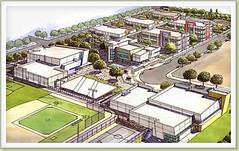 Torres HS campus (design by Langdon Wilson Architects, via Clark Construction)