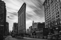 Flatiron Building ([~Bryan~]) Tags: flatironbuilding building architecture iconicbuilding us nyc newyork manhattan city urbanlandscape daytimelongexposure movingcloud longexposure bw blackandwhite monochrome time timeless bryanleung