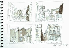 Niort, rue du Petit Banc (Croctoo) Tags: croctoo croctoofr croquis poitoucharentes poitou aquarelle watercolor niort
