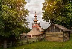 An old church (miroslav.tokarsky) Tags: openair museum church old rural abandoned landscape outdoor historical sky skies drama trees frame pentaxart pentax