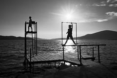 endless summer days (ati sun) Tags: croatia ciovo okruggornji silhouette children sun sea