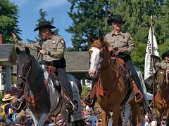 Washington County Sheriff's Posse (swong95765) Tags: horses posse sheriff parade wave animals uniforms hats riders