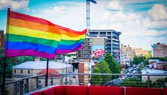 2017.07.02 Rainbow and US Flags Flying Washington, DC USA 6849