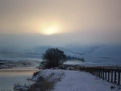 Sun through the mist. (oorwullie7) Tags: winter sun snow misty scotland riverclyde countryside scenic crawford lanarkshire