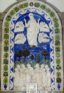 Andrea della Robbia, Ascensione, 1490-1493. La Verna, Chiesa Maggiore