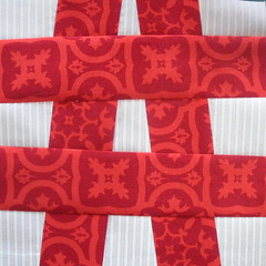 Block made with 2.5 Inch strips
