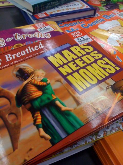 libro cuento Marte Necesita Madres