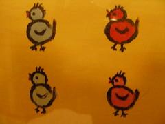 4 Ötschen (erikaheinzurlaub) Tags: pictures blue red sea black color colour green rot bird colors birds yellow yahoo nikon meer colours picture gelb coolpix grün blau bild vögel möwe taube 2009 schwarz möwen bilder spatzen acryl vogel farben spatz zeichnung nikoncoolpix leinwand gemälde zeichnen ötschen ötsch